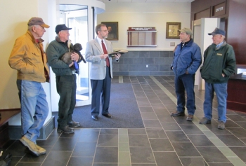 Attorney Wayne Heslep conducts a foreclosure sale at the Rockbridge County Courthouse